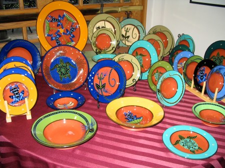 holiday sale, our town pottery, handmade earthenware