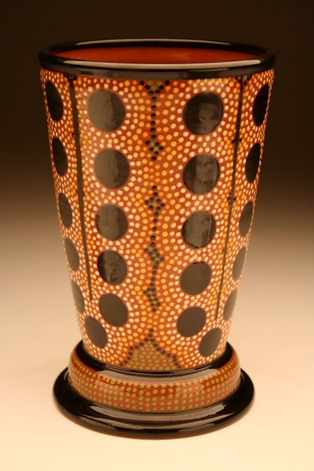 """Tartuffo"" Vase, our town pottery, handmade earthenware"